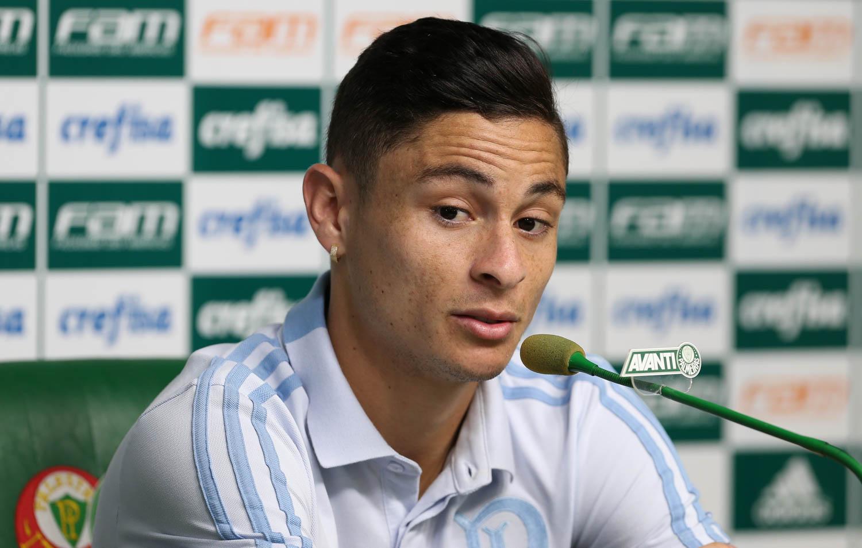 Cesar Greco/Ag. Palmeiras/Divulgação _ O lateral-esquerdo soma sete partidas com a camisa do Palmeiras