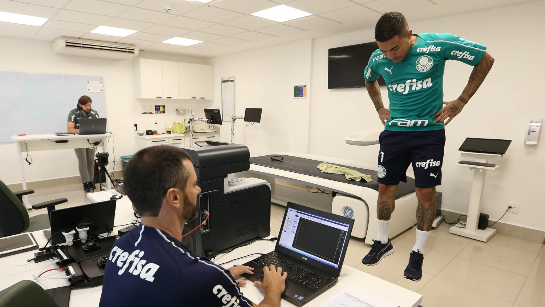 Cesar Greco/Ag. Palmeiras/Divulgação_O elenco passou por exames cardiológicos e testes físicos