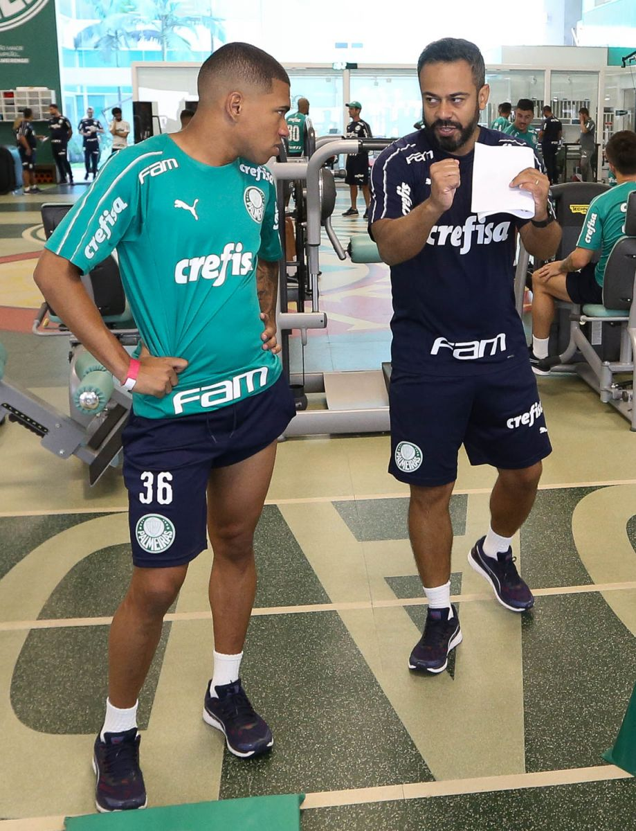 Cesar Greco/Ag. Palmeiras/Divulgação_Daniel Gonçalves (à direita) trabalhou com Luxemburgo no Vasco da Gama