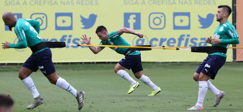 Cesar Greco/Ag. Palmeiras/Divulgação_O Palmeiras encerrou a preparação para a a Florida Cup nesta sexta-feira (10)
