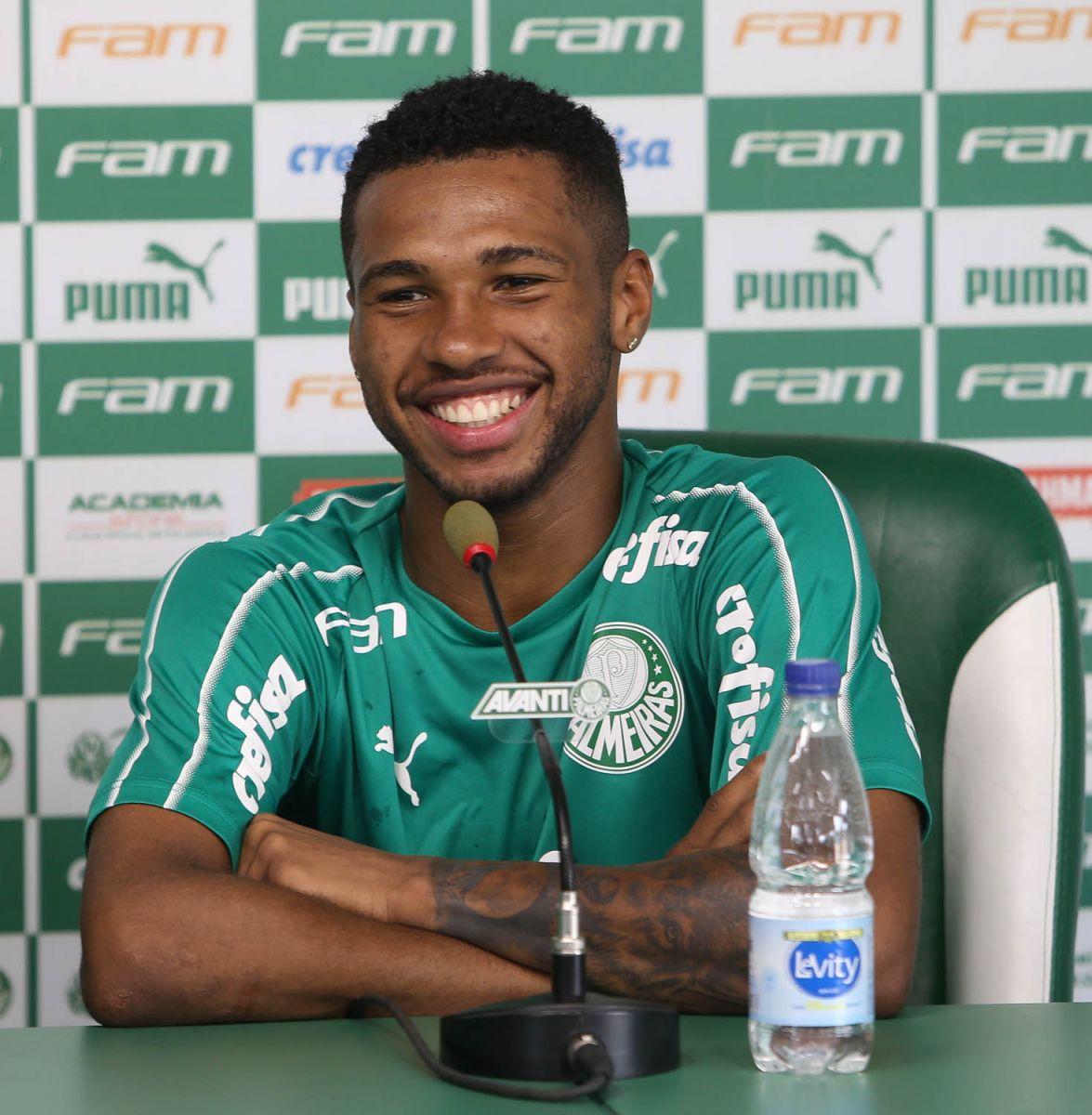 Cesar Greco/Ag. Palmeiras/Divulgação_Wesley foi o segundo maior driblador da Série B do Brasileirão em 2019