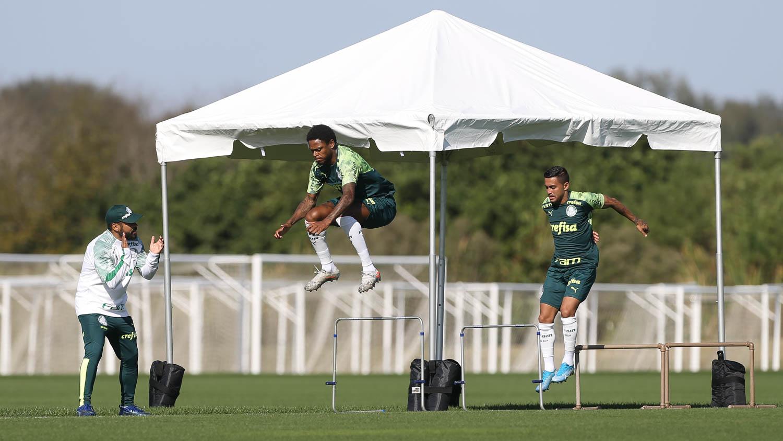 Cesar Greco/Ag. Palmeiras/Divulgação_O Palmeiras treinou no Omni Resort at ChampionsGate na manhã desta segunda-feira (13)
