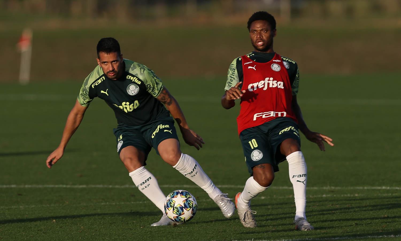 Cesar Greco/Ag Palmeiras/Divulgação_Vanderlei Luxemburgo promoveu treino tático e esboçou possível time titular