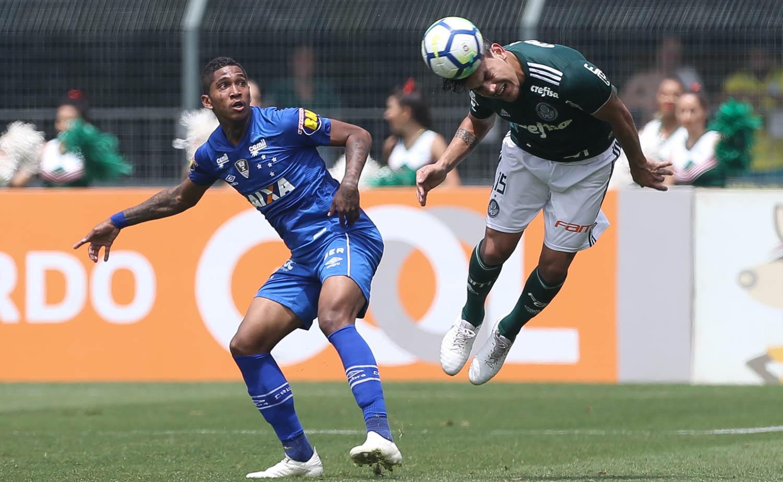 Cesar Greco/Ag Palmeiras/Divulgação_Gustavo Gómez marcou gol e completou 9 jogos invictos pelo Verdão desde que chegou
