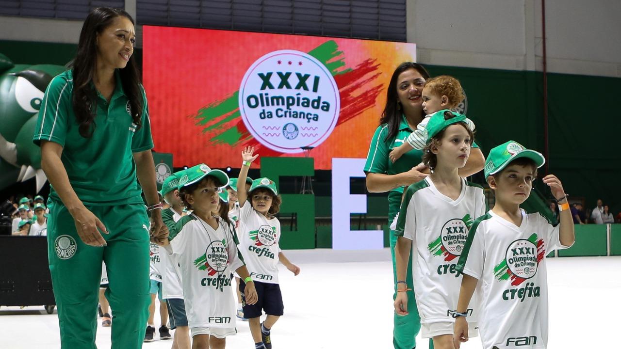 Fabio Menotti/Palmeiras _ Crianças de diversas idades participam do evento esportivo