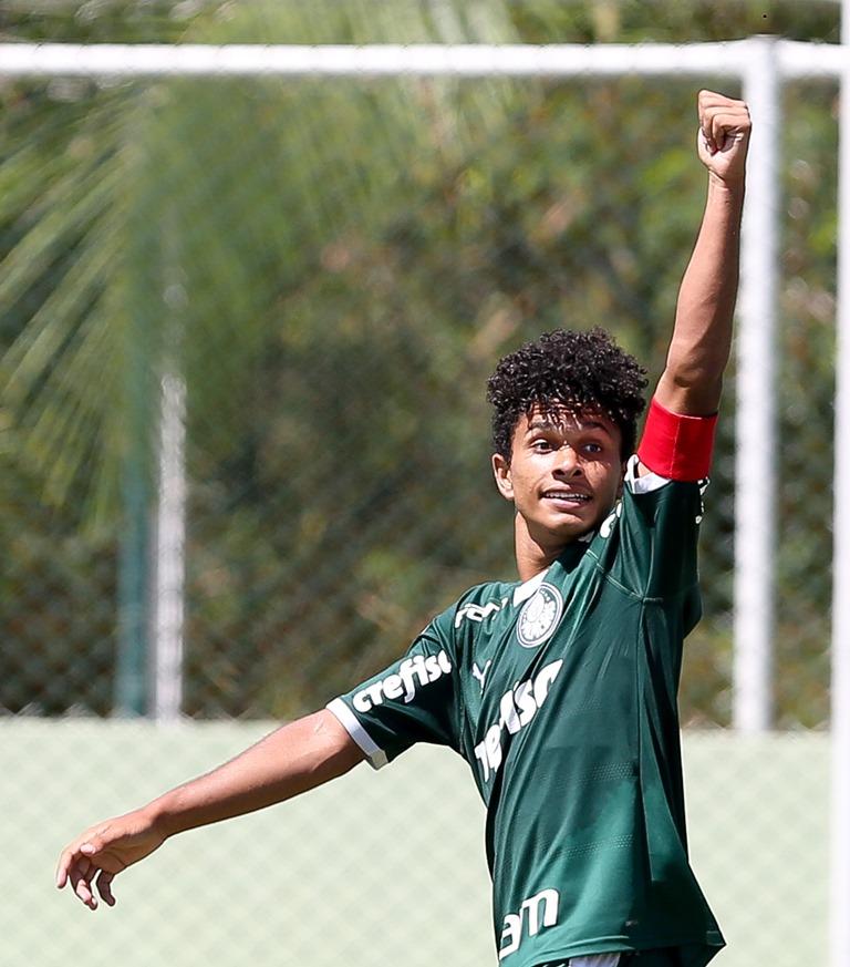 Fabio Menotti/Ag Palmeiras/Divulgação_Gabriel Silva balançou as redes nesta terça