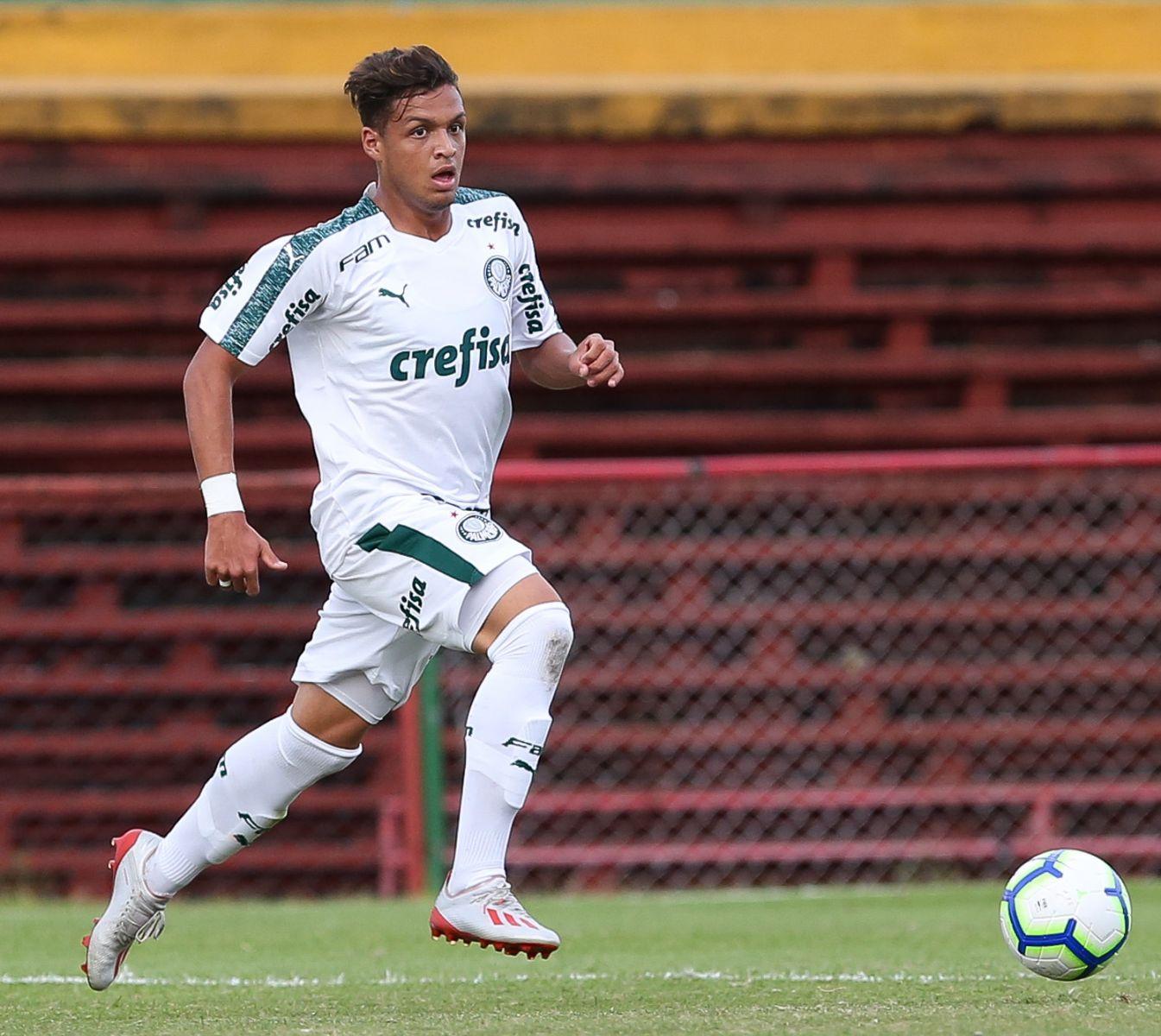 Fabio Menotti/Ag. Palmeiras/Divulgação_O atacante Daniel Melo marcou duas vezes na vitória do Sub-17