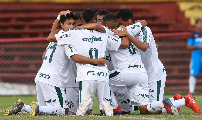 Fabio Menotti/Ag. Palmeiras/Divulgação_O Sub-17 do Palmeiras goleou o Rio Preto por 5 a 0