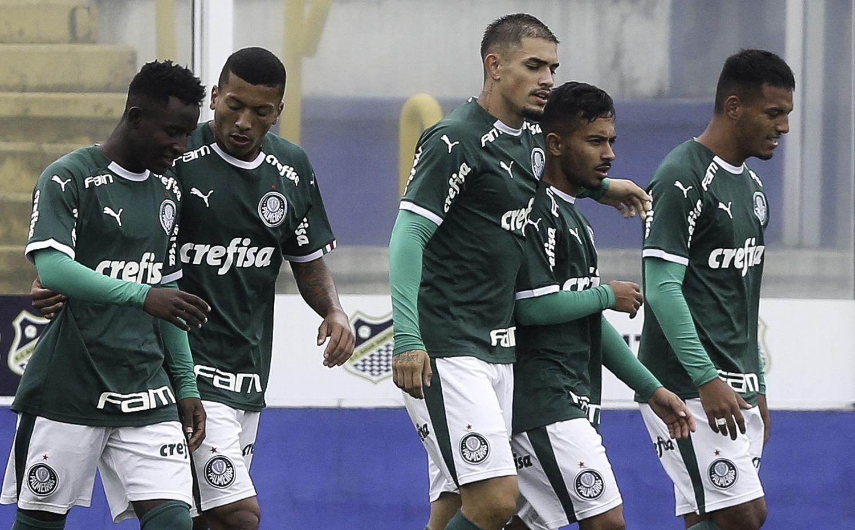 Fabio Menotti/Ag. Palmeiras/Divulgação_O Sub-20 alviverde joga em Guarulhos-SP, no sábado (12)