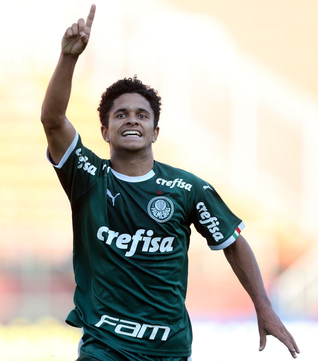 Fabio Menotti/Ag. Palmeiras/Divulgação_Gabriel Silva marcou dois gols na vitória do Sub-17