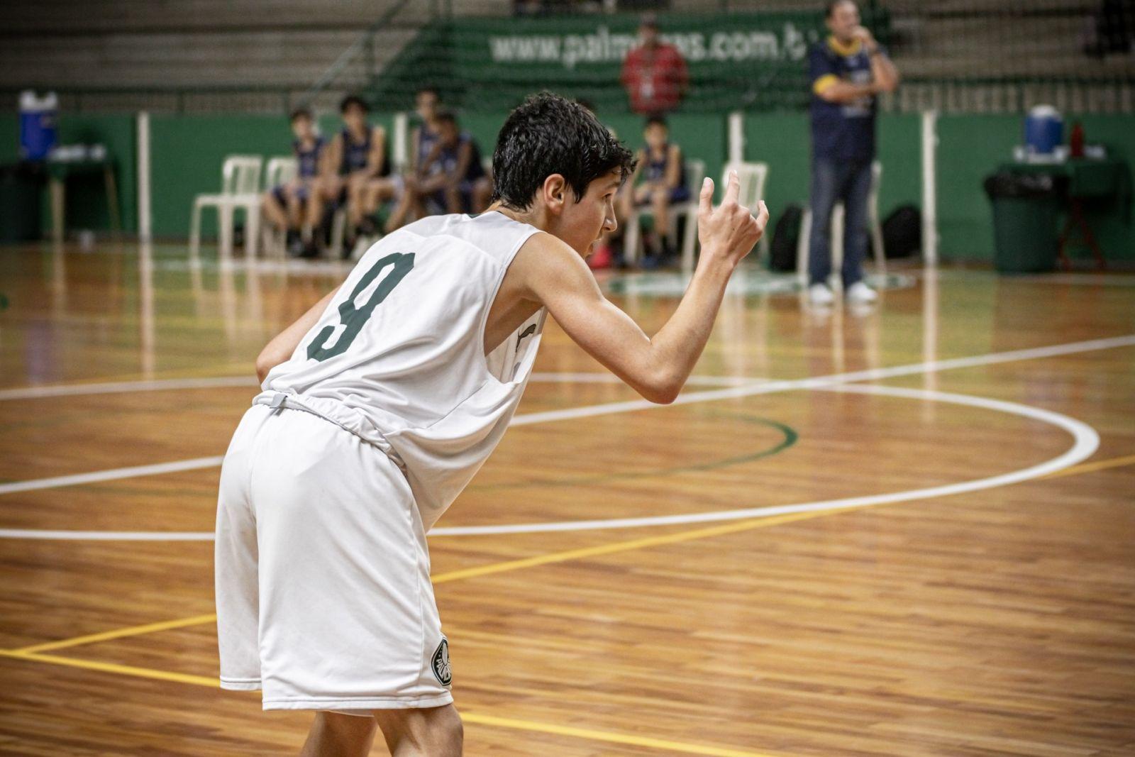 Caio Carlucci/Divulgação _ Diogo Degan, com 23 pontos, foi o cestinha do Sub-14 do Verdão contra o São Caetano