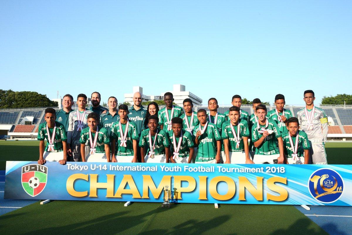 Divulgação_O Palmeiras venceu o Tokyo U-14 International Youth Football Tournament de maneira invicta em 2018