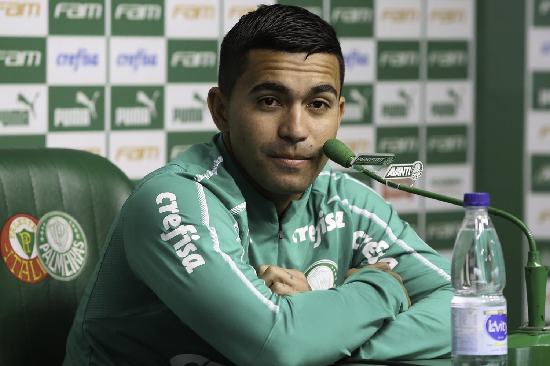 Cesar Greco/Ag. Palmeiras/Divulgação_O atacante Dudu marcou os dois gols do Palmeiras na partida do último domingo (11), contra o Bahia