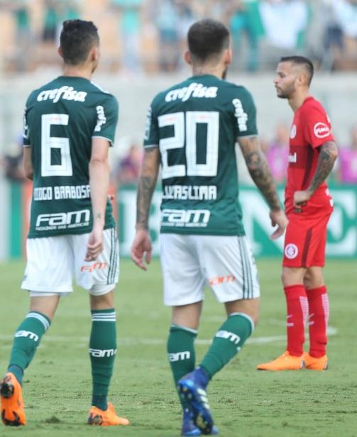 Cesar Greco/Ag Palmeiras/Divulgação_Diogo Barbos e Lucas Lima tiveram participação no gol da vitória palmeirense