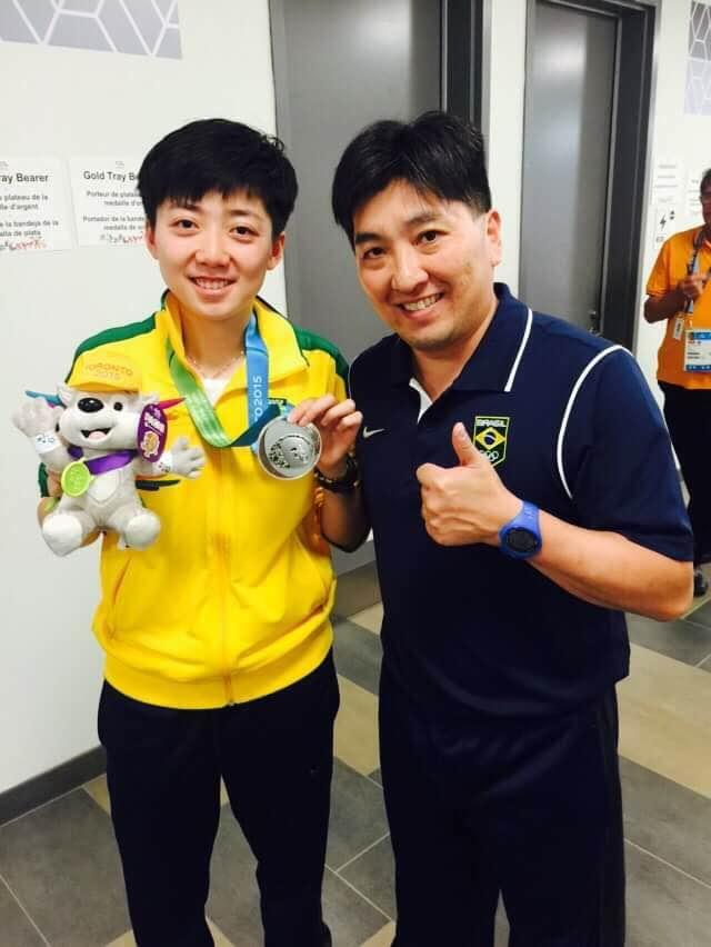 Divulgação _ Em 2015, Hugo e Gui Lin, que também representava o Verdão, faturaram a prata por equipes no Pan