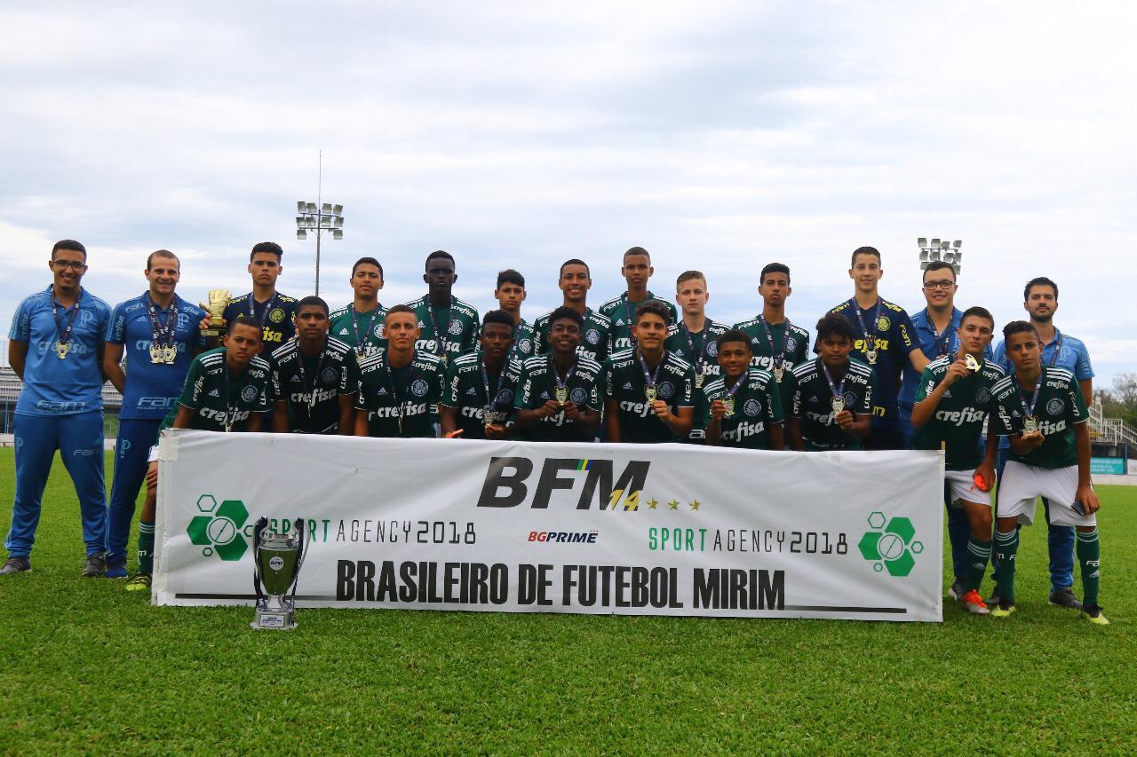 Divulgação_O Sub-14 do Palmeiras enfrenta o Atlético-PR na decisão do Campeonato Brasileiro Mirim
