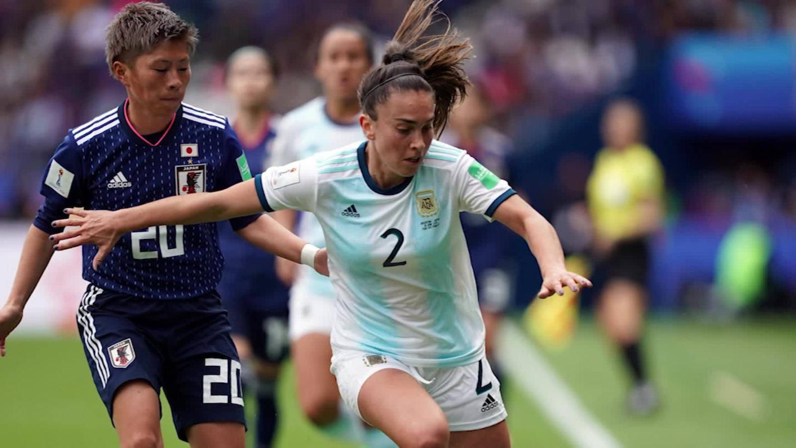 Divulgação _ A atleta foi titular da Seleção Argentina na Copa do Mundo Feminina, em 2019