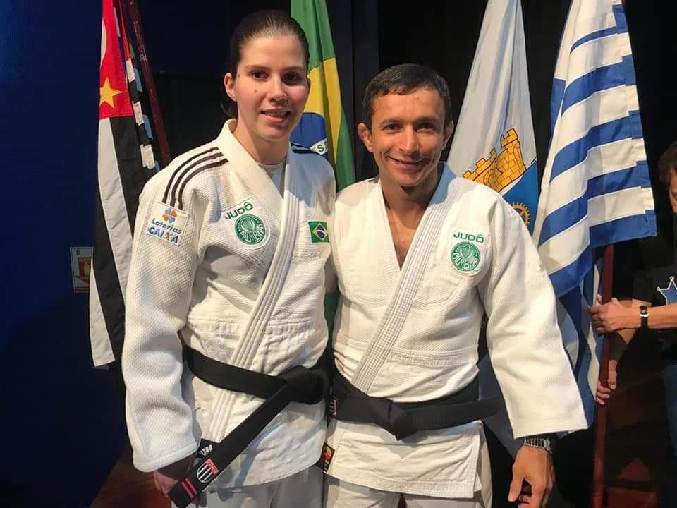 Divulgação _ A atleta recebeu neste ano o 2º Dan, graduação concedida aos judocas pelo tempo de faixa preta