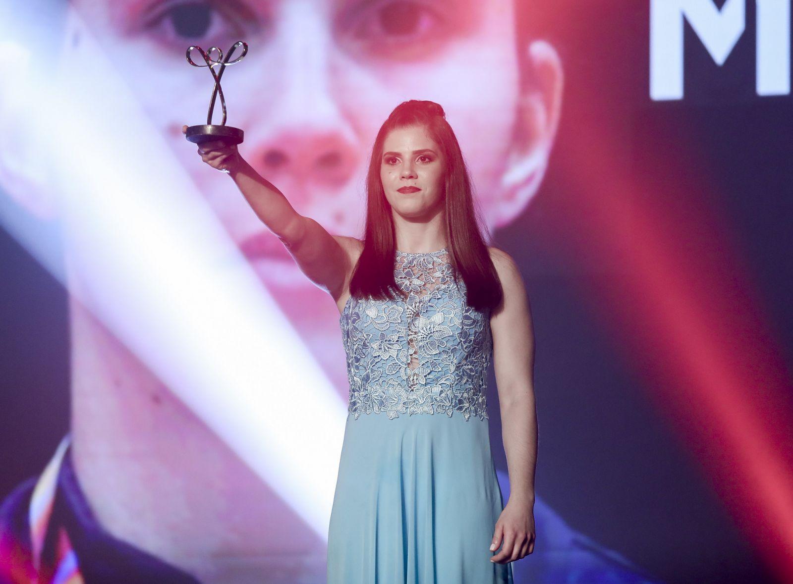 Ale Cabral/CPB _ Alana faturou o troféu 'Atleta da Galera' no Prêmio Paralímpicos 2019