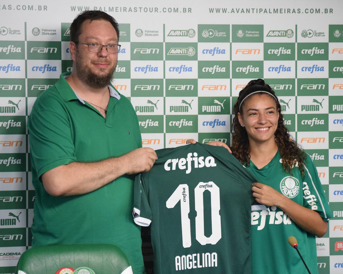 Priscila Pedroso/Palmeiras _ Angelina é a atual capitã da Seleção Brasileira Feminina Sub-20