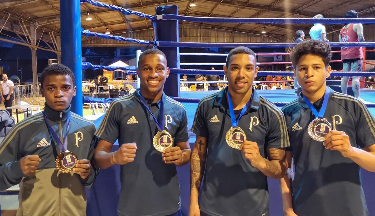 Divulgação _ O boxe do Palmeiras faturou medalhas no Campeonato Brasileiro Juvenil e de Elite