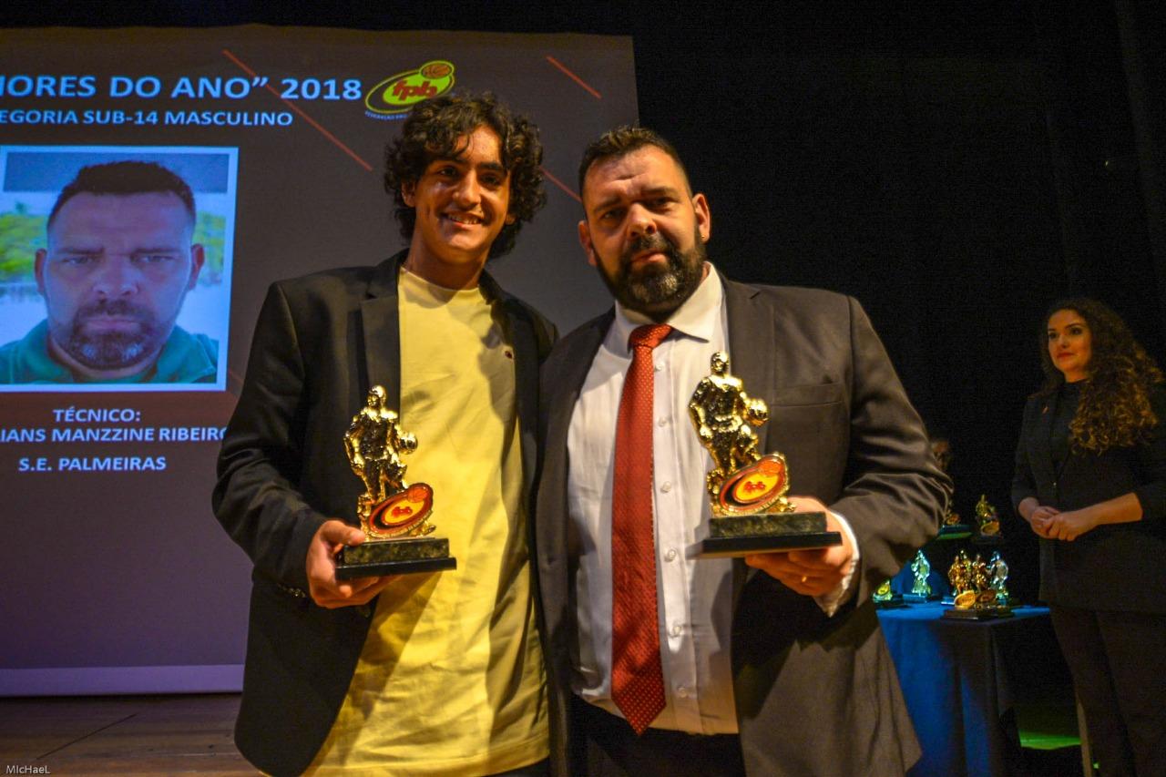 Divulgação _ Caldeira (esq.) e Willians (dir.) estiveram entre os premiados da FPB
