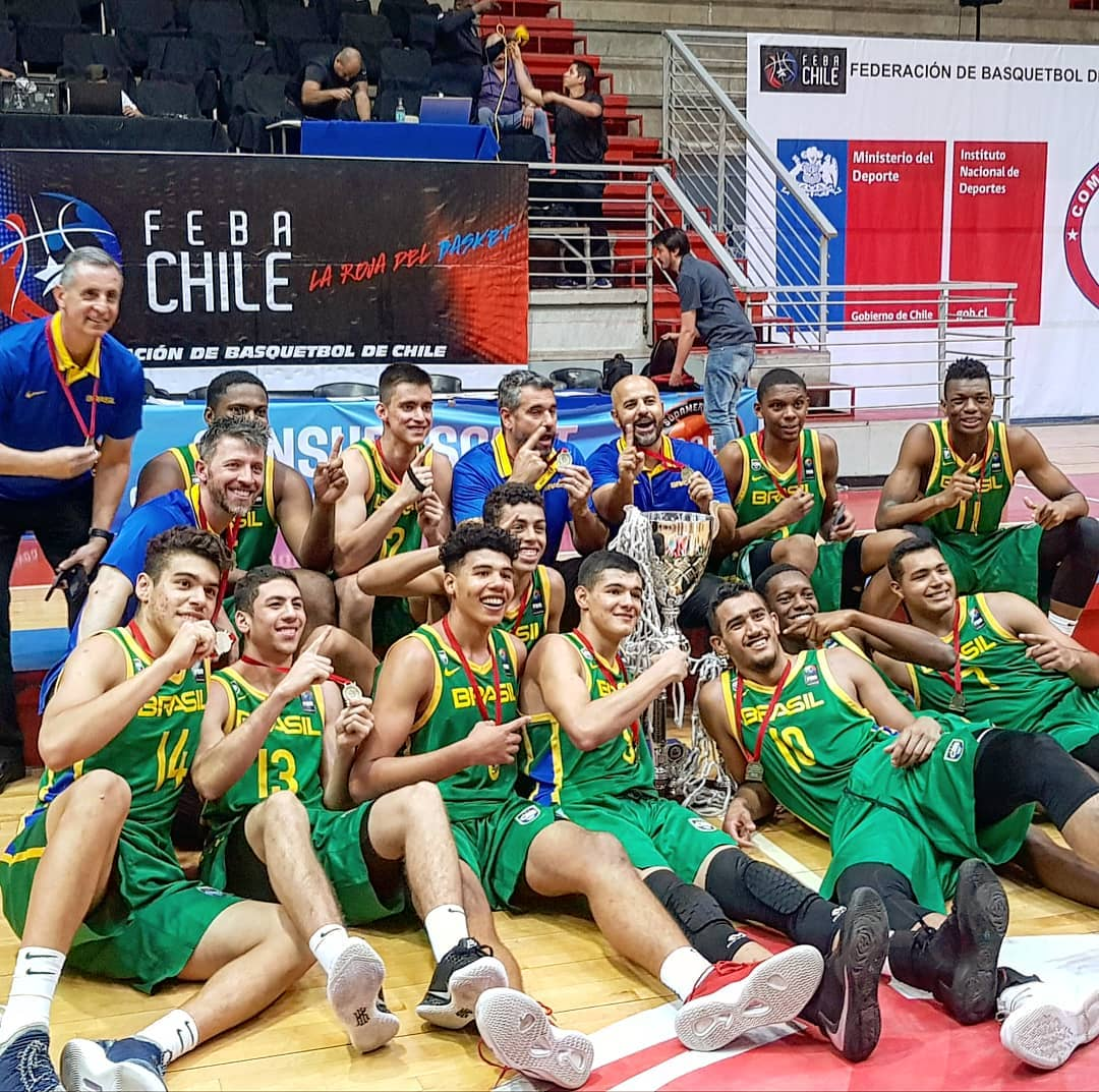 CBB/Divulgação _ Com quatro vitórias, o Brasil teve campanha invicta na competição