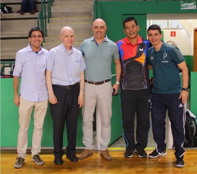 Divulgação _ Galiotte, ao lado da lenda Biriba, prestigiou o evento no clube