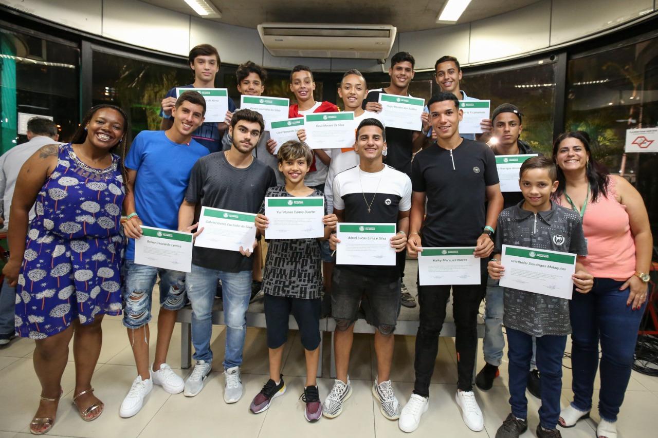 Fabio Menotti/Palmeiras _ Os atletas com melhor desempenho escolar foram homenageados na festa