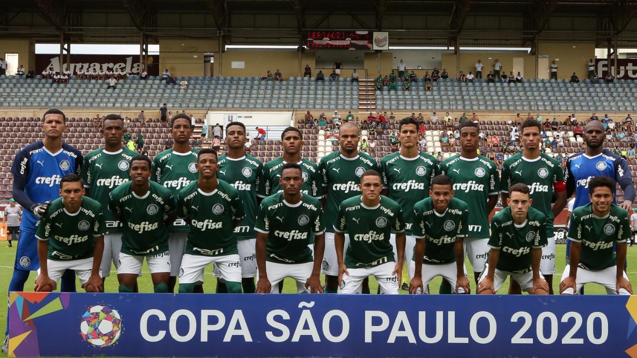 Fabio Menotti/Ag. Palmeiras/Divulgação_O Sub-20 do Palmeira encara o vencedor do duelo entra Ferroviária e Goiás na próxima fase