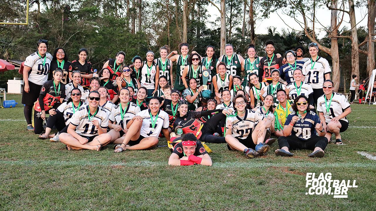 Flagfootball.com.br _ As meninas do flag palmeirense disputaram a superfinal do torneio nacional em 2019