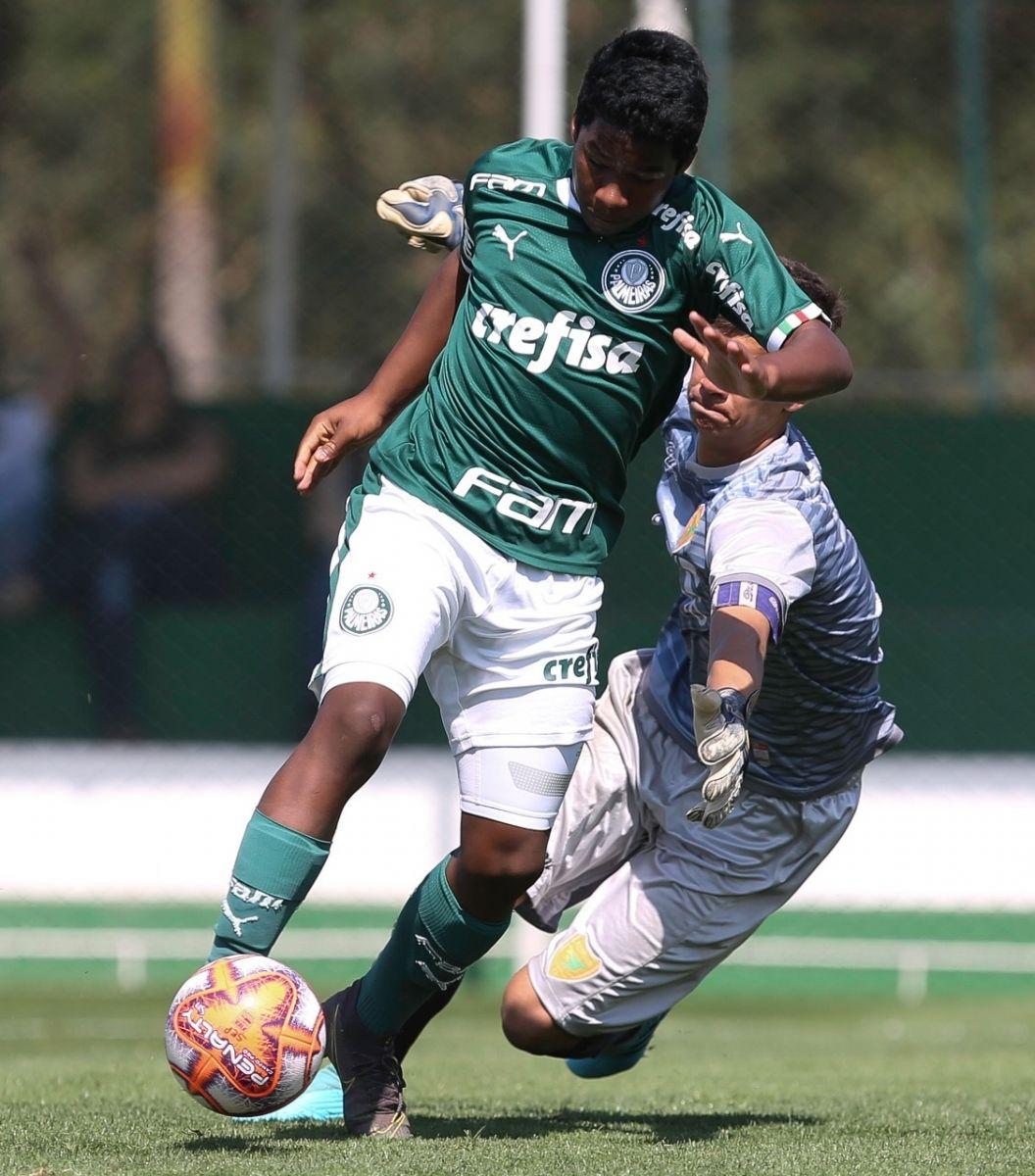 Fabio Menotti/Ag Palmeiras/Divulgação_Autor de gol, Endrick Felipe é um destaques do Sub-15 do Verdão
