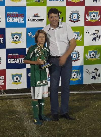 Divulgação _ Fabio Mondoni, o Fabinho, foi eleito o artilheiro do torneio com quatro gols