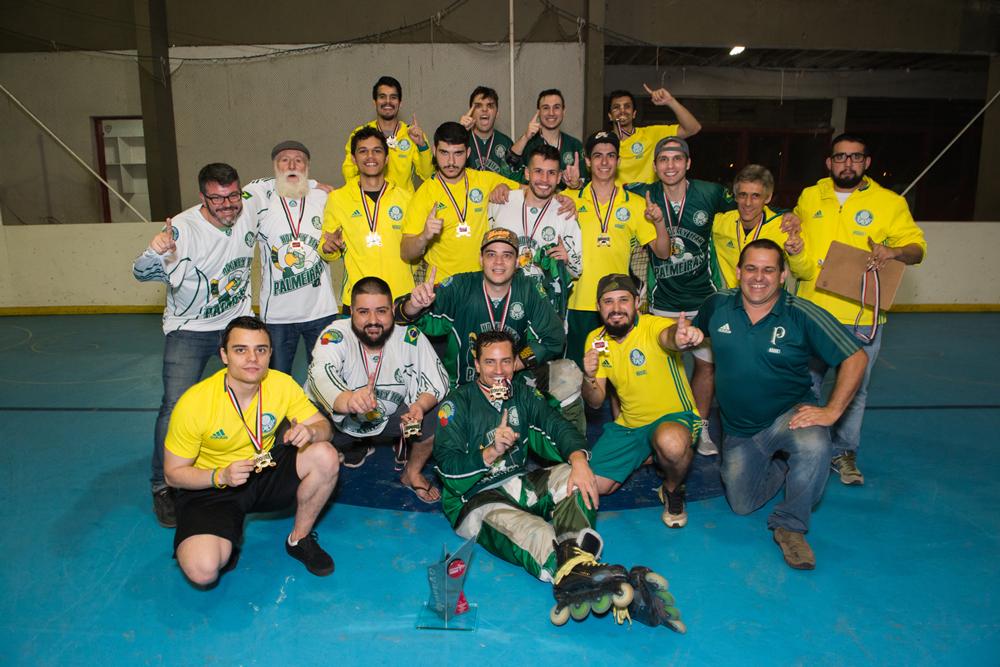 Bruno Basila/Divulgação_O Alviverde foi campeão estadual de hóquei in line adulto pela quarta vez na história