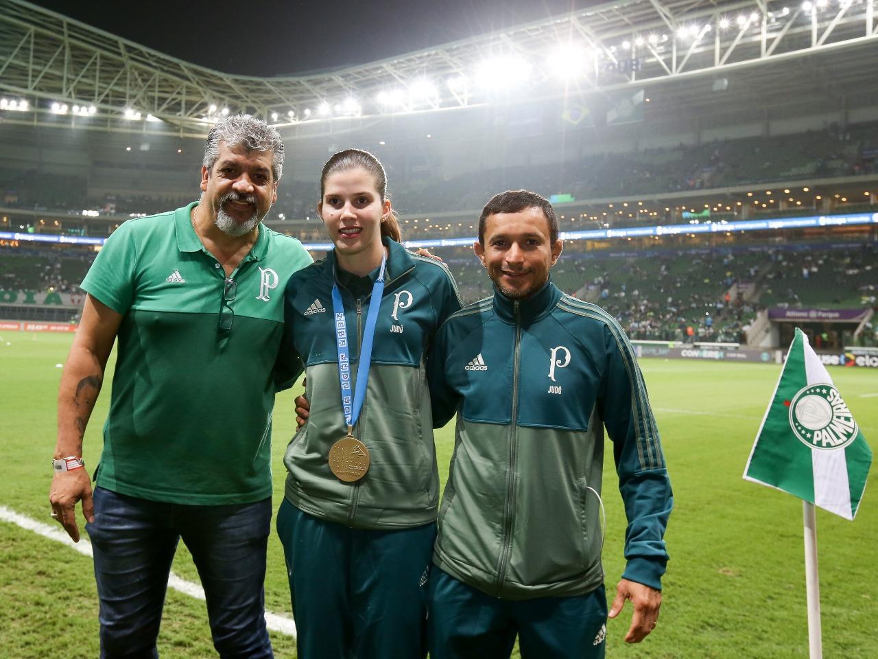 Fabio Menotti/Ag. Palmeiras/Divulgação_Alana conquistou dois ouros e uma prata desde sua chegada ao Verdão neste ano
