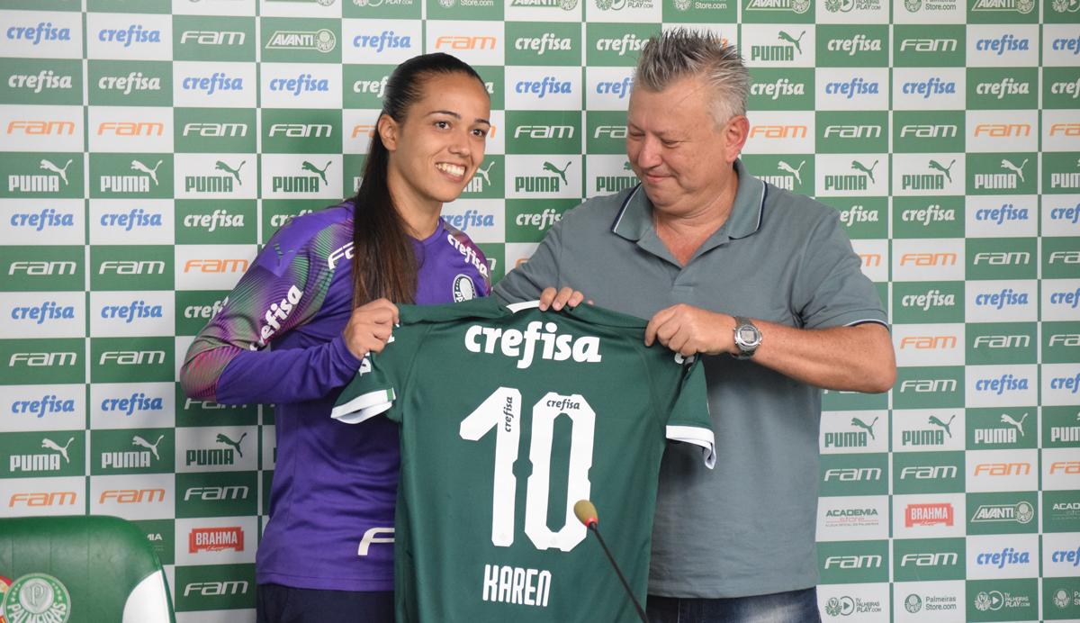 Priscila Pedroso/Palmeiras _ Após grandes atuações em 2019, Karen reforça o plantel de goleiras do Palmeiras