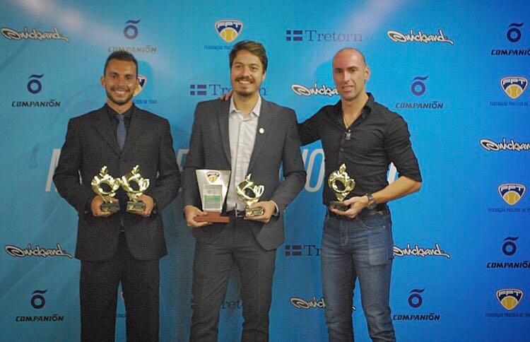 Divulgação_Três tenistas do Palmeiras foram premiados na cerimônia Melhores do Ano da Federação Paulista de Tênis