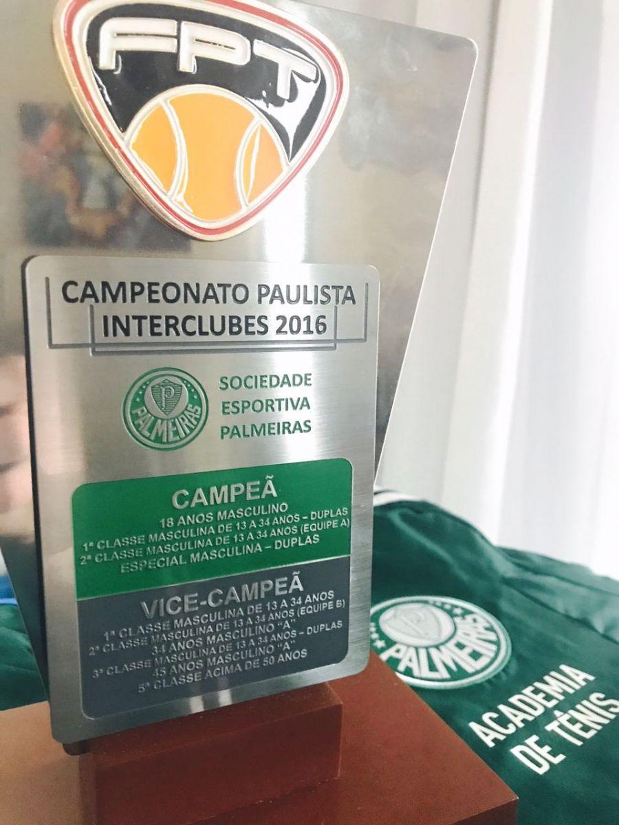 Divulgação_O tênis do Verdão está na final do Paulista Interclubes na categoria 45 Anos Masculino