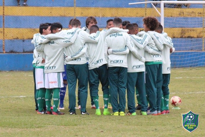 Base Brasil 2020/Divulgação _ O time Sub-14 do Verdão teve saldo de duas vitórias, dois empates e dois reveses no torneio