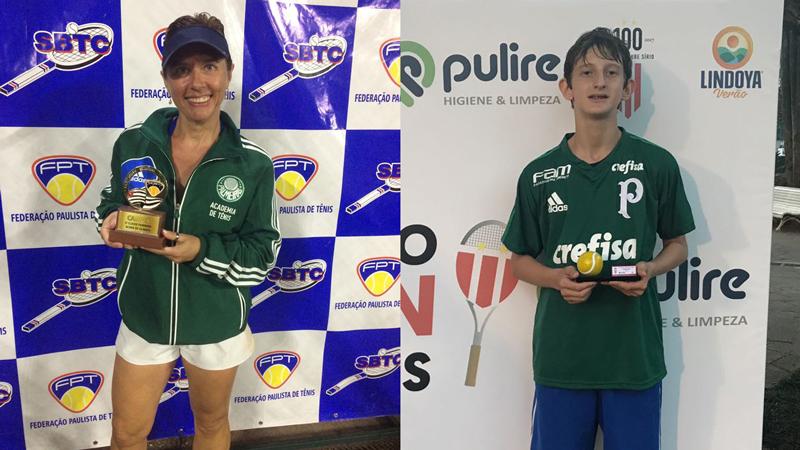 Divulgação _ Rosely e Gustavo ampliaram a galeria de prêmios do tênis do Verdão