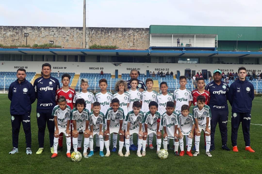 Reprodução Facebook_O Sub-11 do Palmeiras venceu o Santo André com dois gols de João Paulo