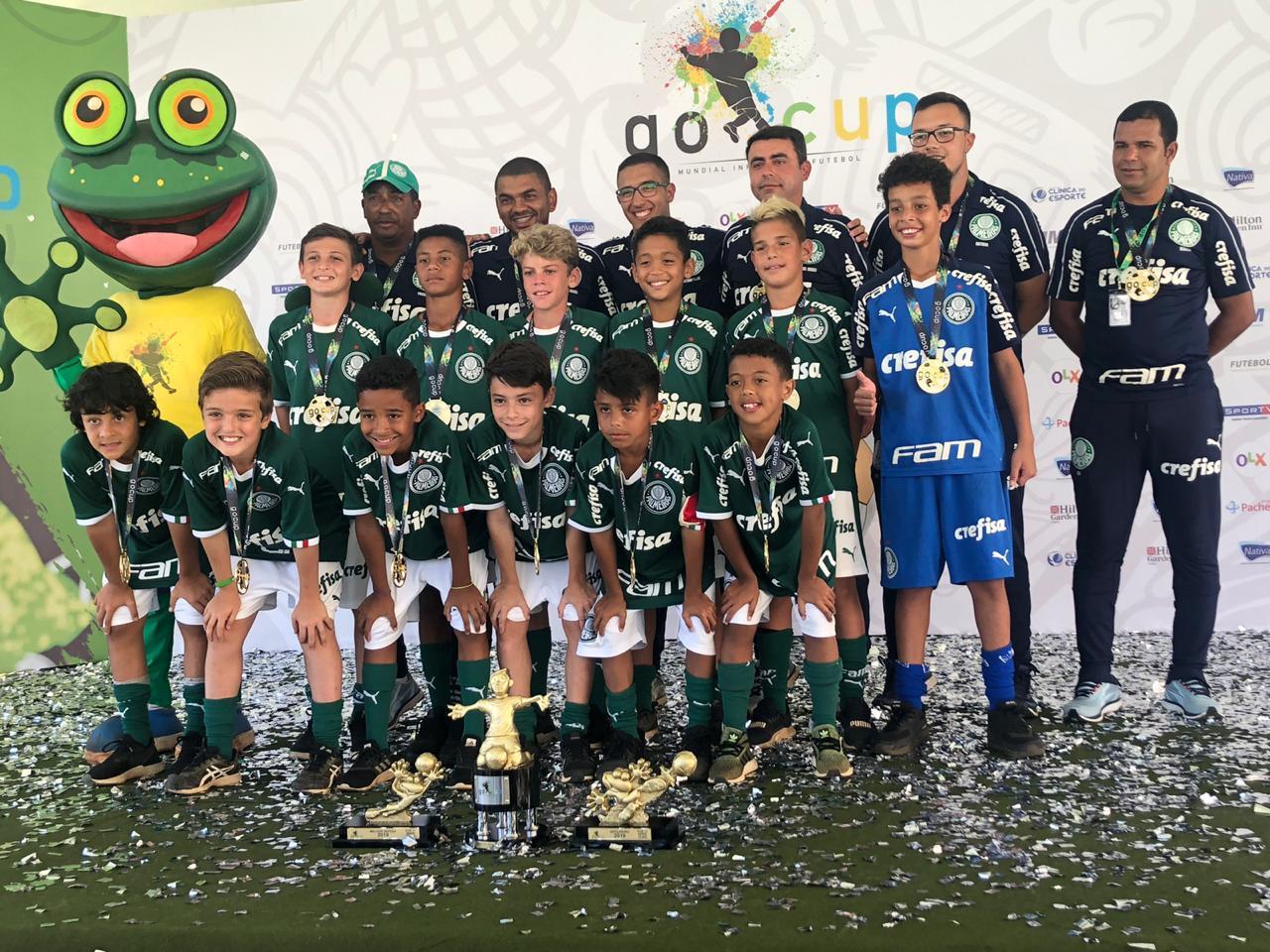 Divulgação_Time Sub-11 do Verdão sagrou-se bicampeão da GoCup ao golear o Furacão por 4 a 0