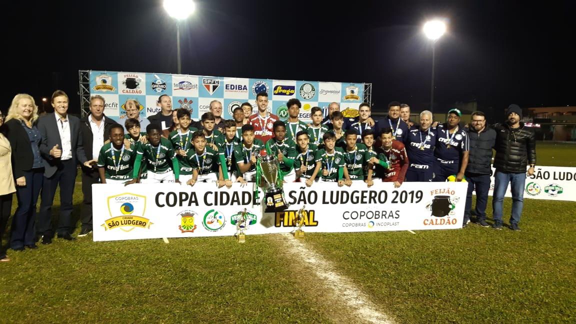 Divulgação_O Palmeiras venceu oito partidas e empatou uma na Copa São Ludgero, com incríveis 50 gols marcados