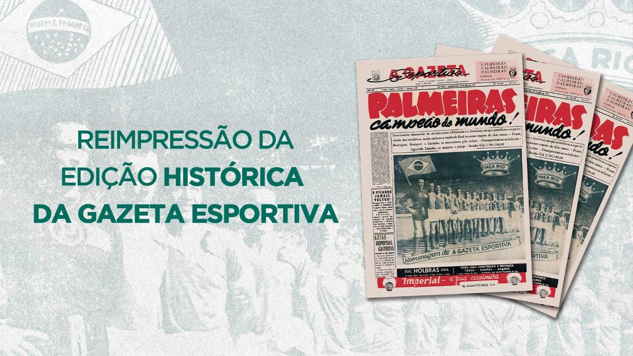 Reimpressão do jornal A Gazeta Esportiva em 2021